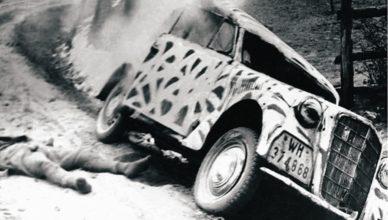 Подбитая немецкая машина ВОВ