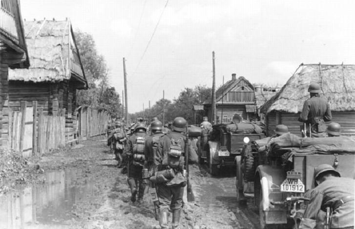 немцы на оккупированной территории