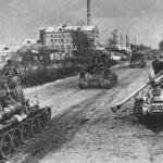 Первые советские танки в оккупированном Минске