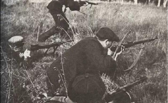 бой с партизанами