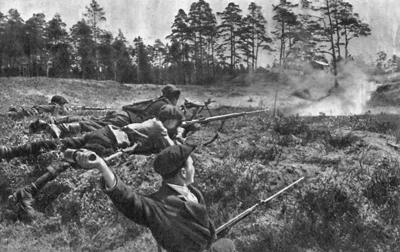 партизаны в бою