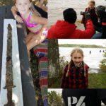 8-ми летняя девочка вытащила из озера меч возрастом 1500 лет