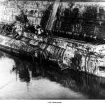 "Бой Английской подлодки L-55 против эсминца ""Азард"""