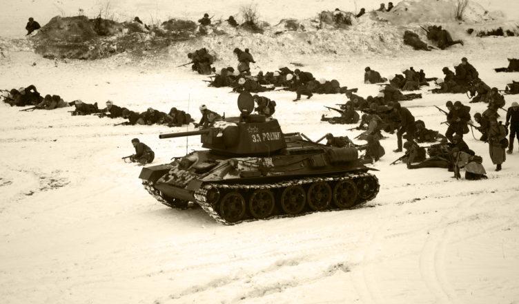 атака Красной армии