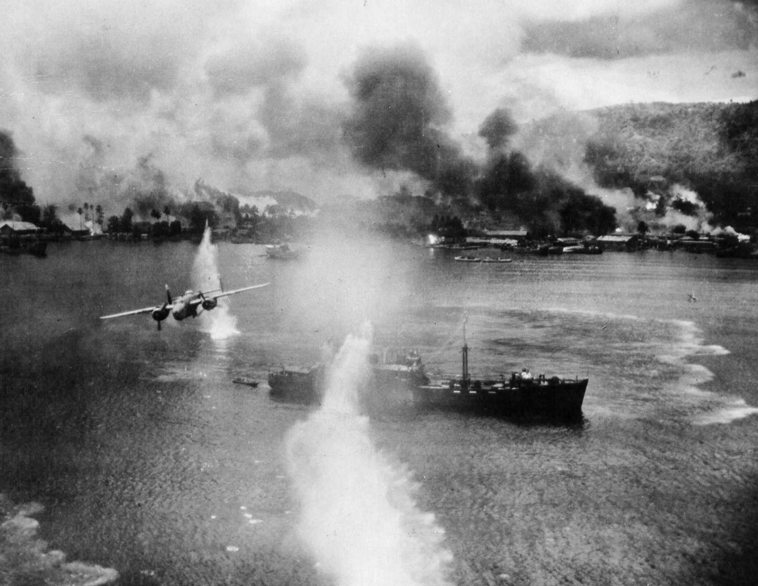 Удар авиации по флоту