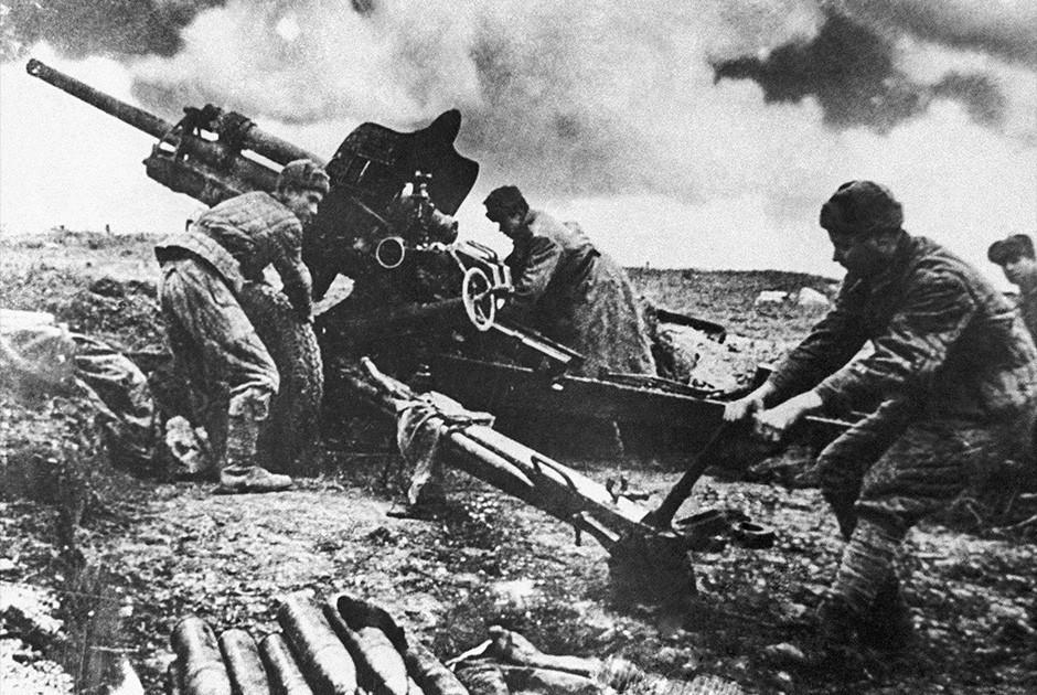 Артиллеристы ВОВ фото