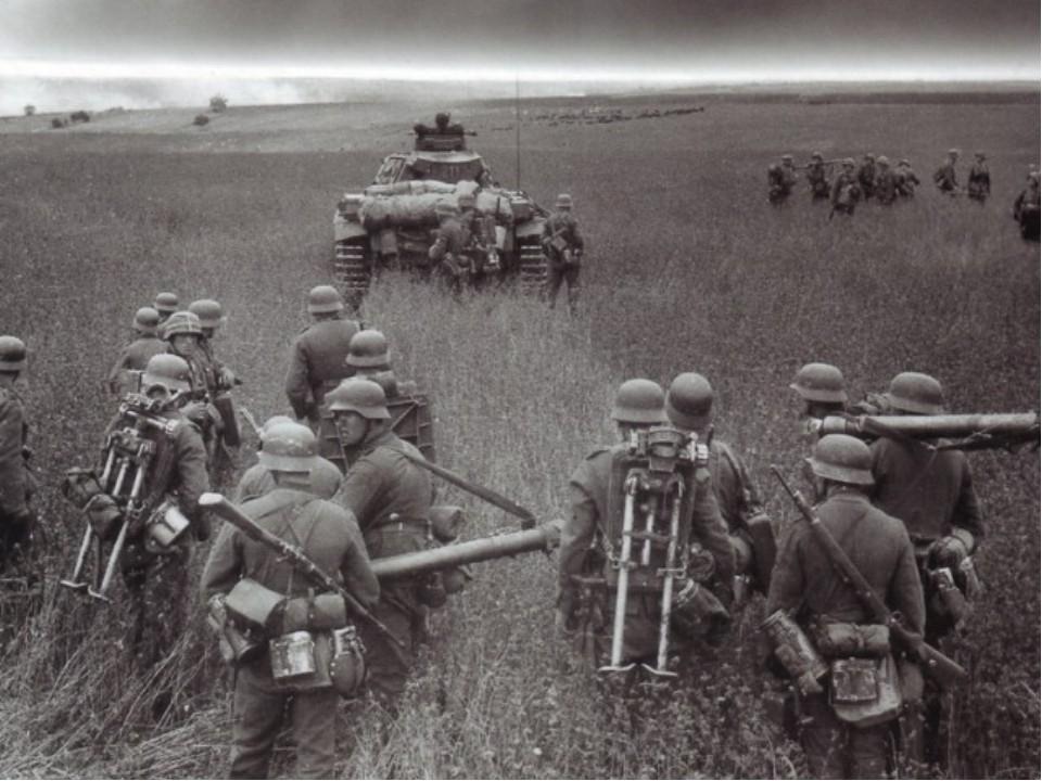 немцы атакуют