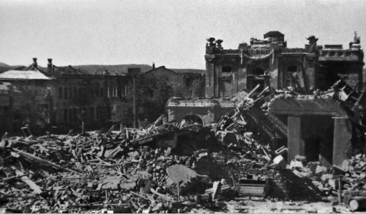 разрушенный Новороссийск
