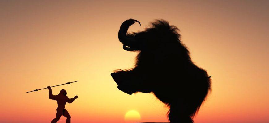 Наконечник копья провел внутри мамонтовой кости около 25 000 лет
