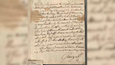Письмо британского короля было продано с молотка за 15000 долларов
