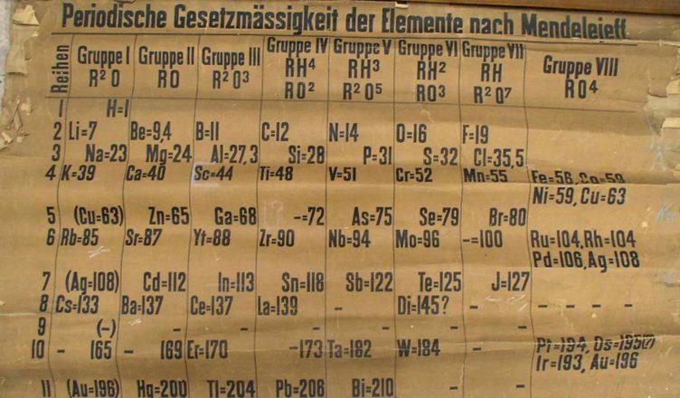Датирован старейший в мире образец периодической таблицы