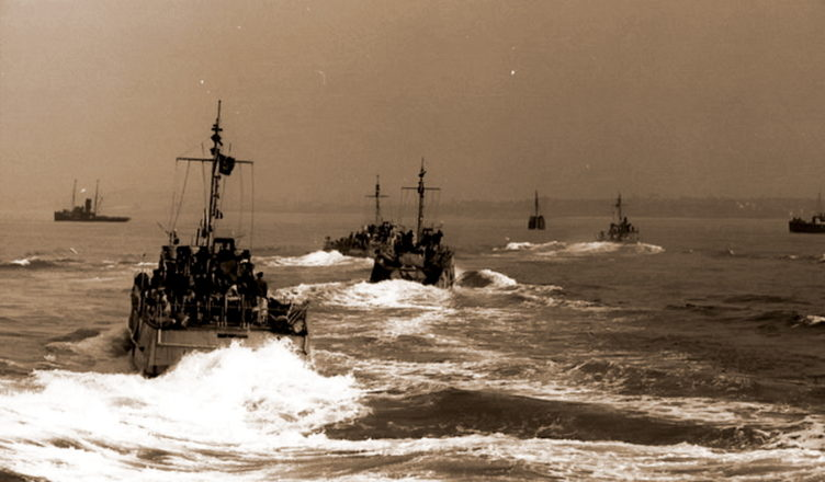 Немецкие тральщики у берегов Франции