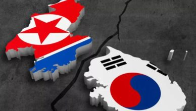 Корея разделилась на две части