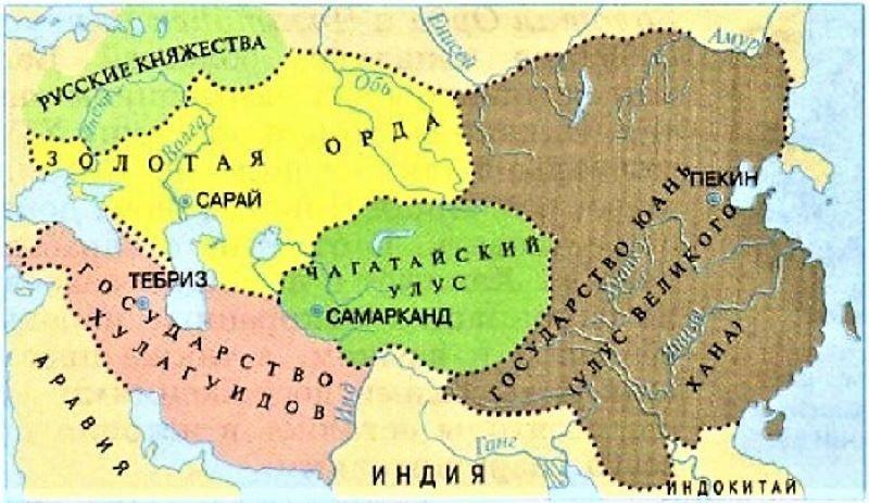 Распад Монгольской империи