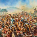 Сражение между спартанцами и войсками антиспартанской коалиции