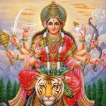 Восьмирукая индийская богиня
