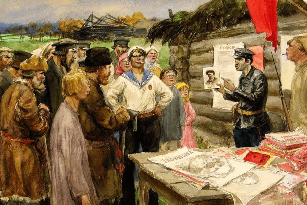 Советская власть наводит свои порядки в послереволюционной России