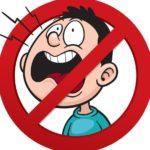 запрещающий шуметь в любое время суток – нельзя кричать, громко петь песни, свистеть