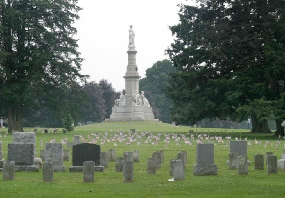 США. Геттисбергское кладбище