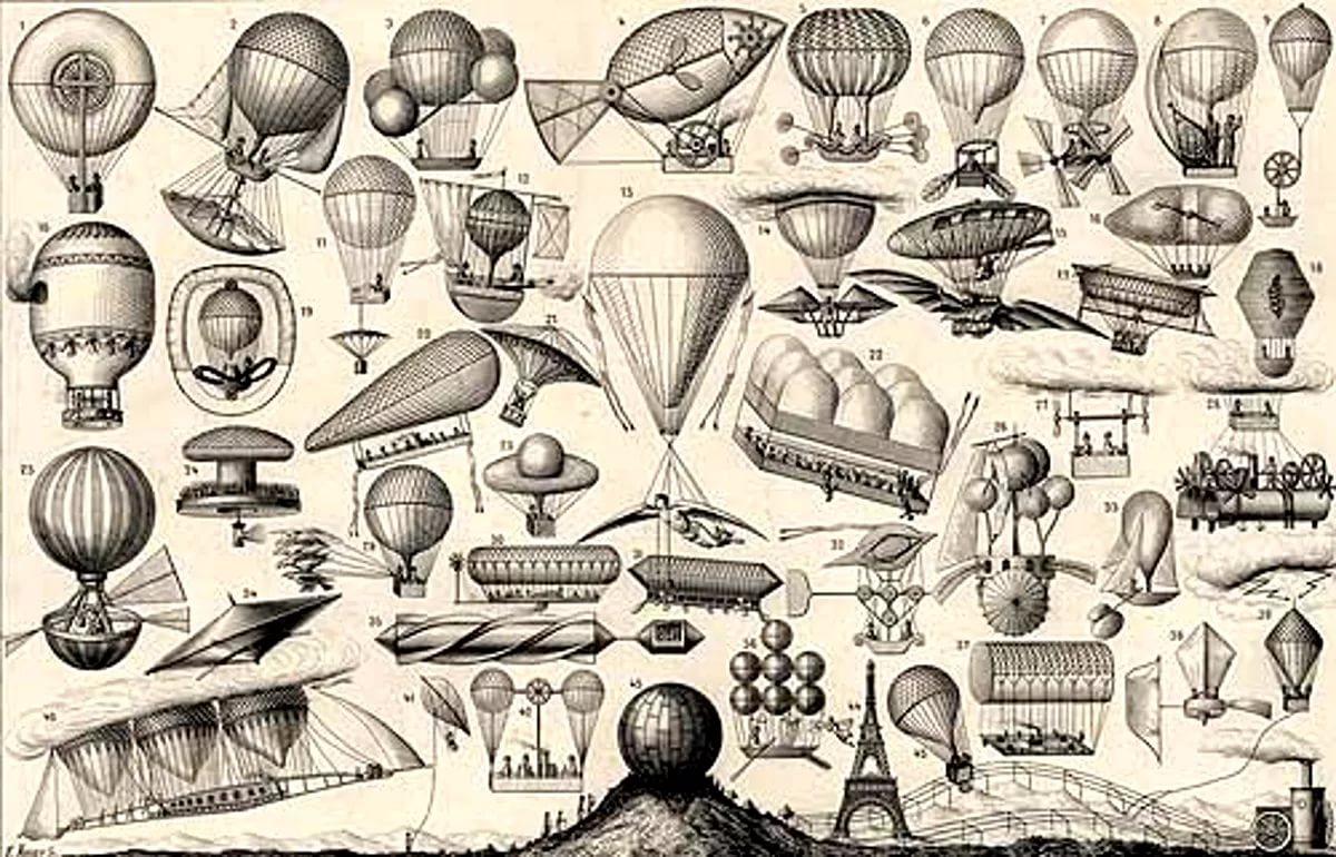 История воздушных шаров и дирижаблей