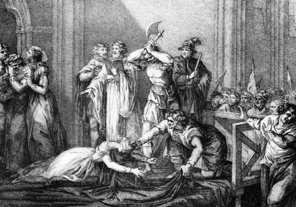казнённой стала Мария, королева Шотландии