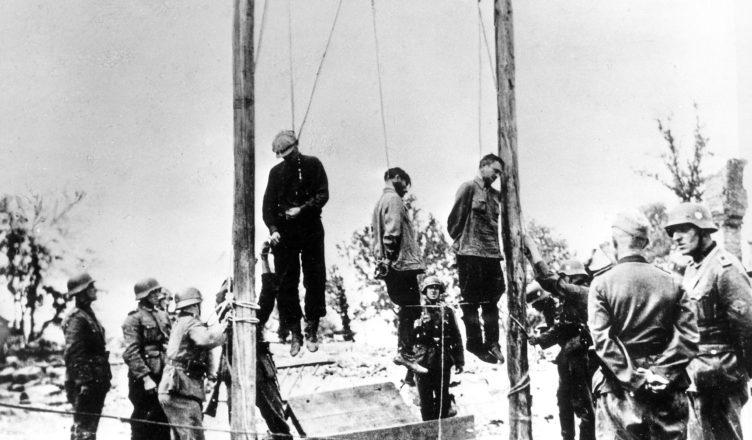 немцы расстреливали или вешали этих людей