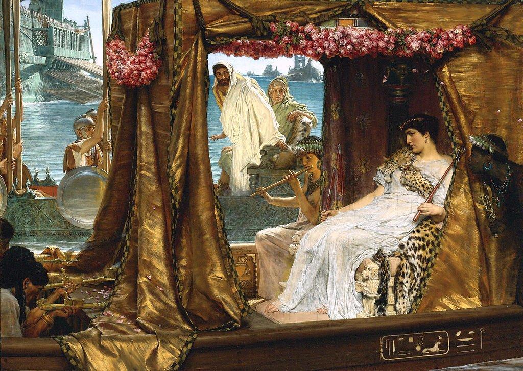 Марк Антоний сбежал за Клеопатрой, покинув сражение