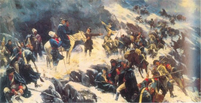 Наполеон против Суворова воевал