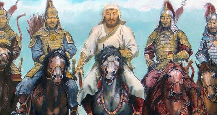 лагерь Чингисхана, правителя Монгольской империи