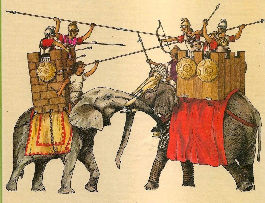 Как воевали боевые слоны
