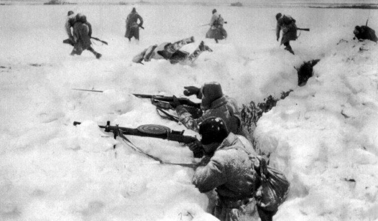 Контратака немцев в районе Ржева