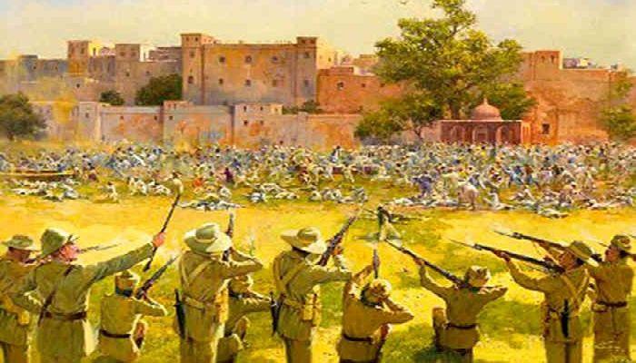 демонстрацию индийцев в Амритсаре