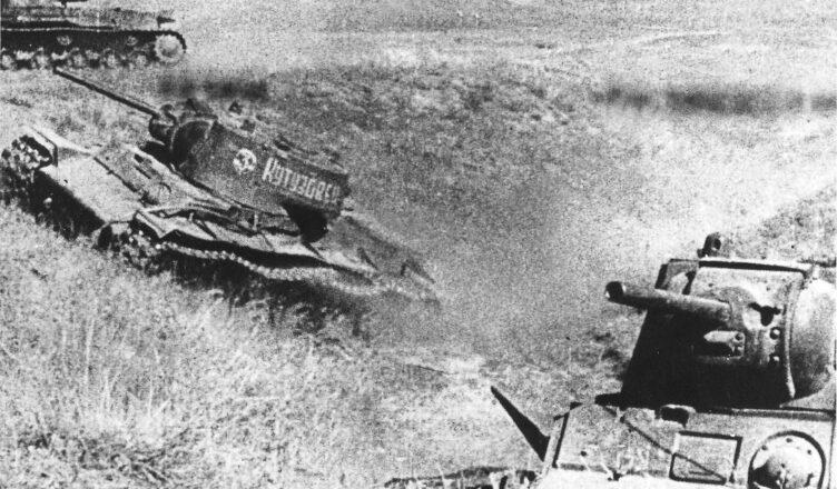 контратака вражеских танков