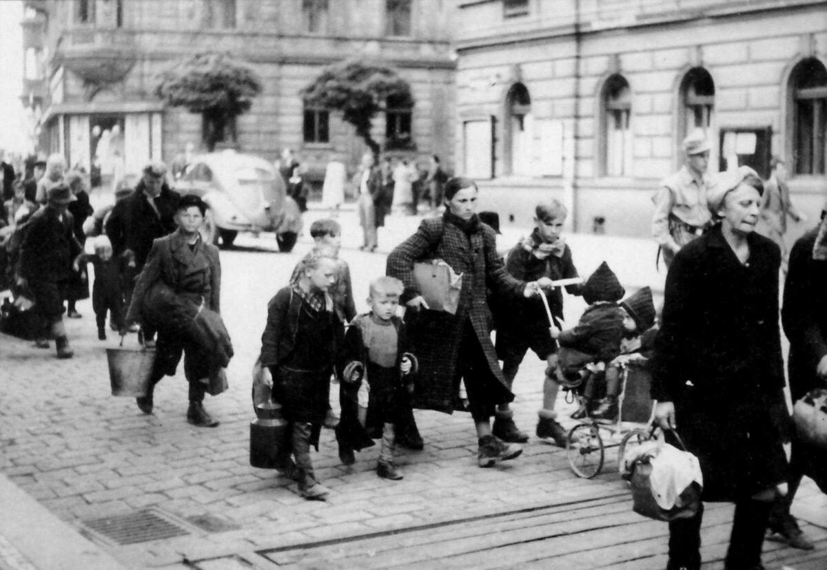выселения поляков немцами