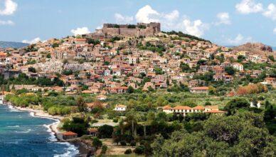 На древнегреческом острове Лесбос