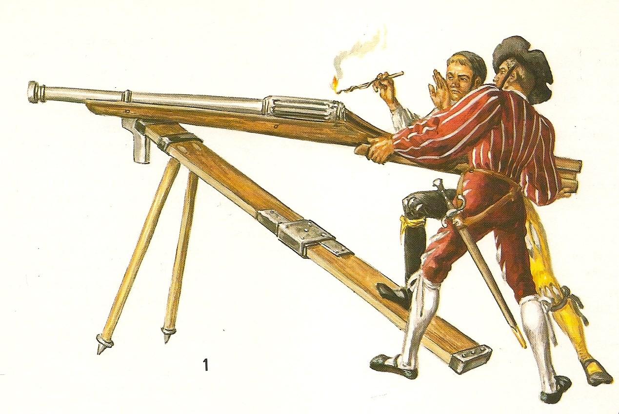после изобретения огнестрельного оружия