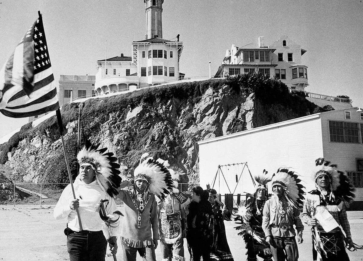 Как индейцы захватили тюрьму Алькатрас